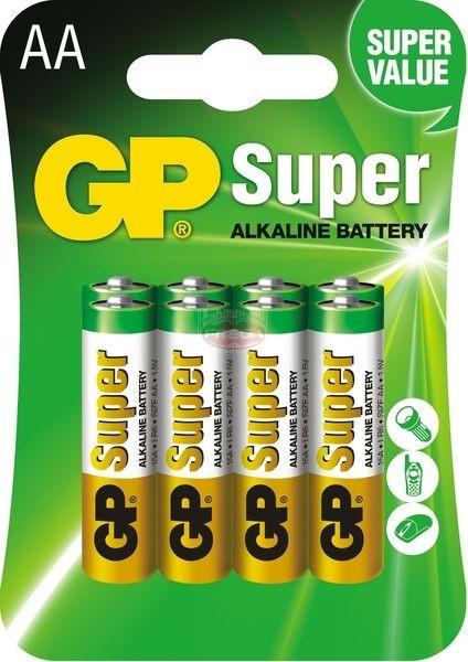 GP baterie alkaliczne Super LR6 AA 1.5 V 8 szt