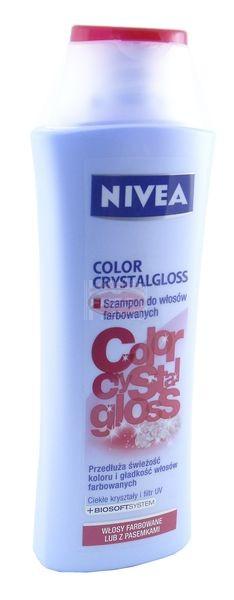 Nivea szampon do włosów color crystalgloss 250 ml