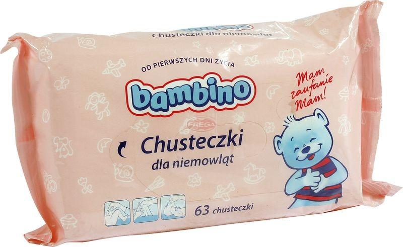 Bambino chusteczki nawilżające dla niemowląt 63 szt.