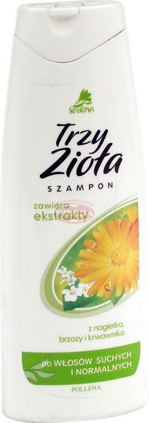 Familijny szampon do włosów suchych trzy zioła nagietek brzoza krwawnik 250 ml