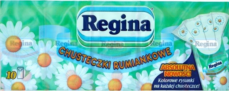 Regina chusteczki higieniczne rumiankowe z obrazkami 10 x 9 szt.