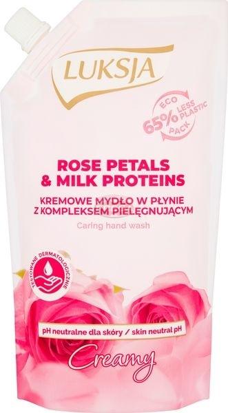 Luksja Creamy Rose Petals & Milk Proteins Kremowe mydło w płynie opakowanie uzupełniające 400 ml