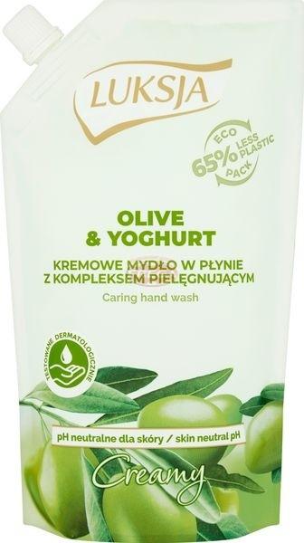 Luksja Creamy Olive & Yoghurt Kremowe mydło w płynie opakowanie uzupełniające 400 ml