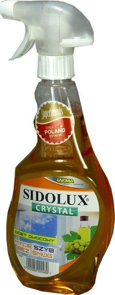Sidolux Crystal ocet owocowy płyn do mycia szyb 500 ml