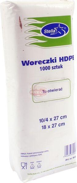 Woreczki HDPE 10/4 x 27 mm 1000 szt.