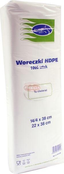 Woreczki HDPE 14/4 x 38 mm 1000 szt.