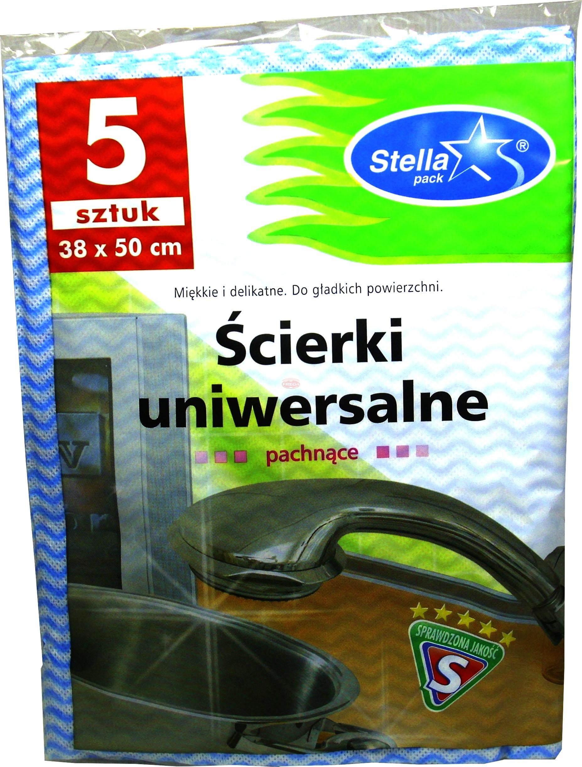 Stella ścierki uniwersalne 38 x 50 cm 5 szt.