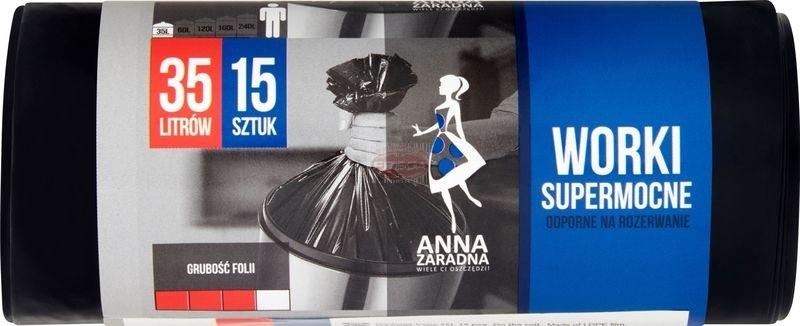 Anna Zaradna worki na śmieci 35 l supermocne 15 szt.