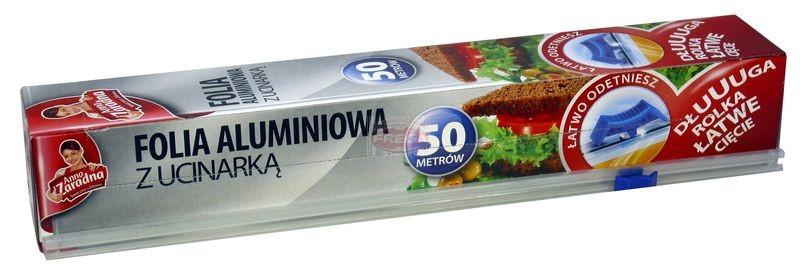Anna Zaradna folia aluminiowa z ucinarką 50 mb
