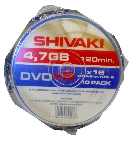 Shivaki płyty DVD+R 4,7 GB 10 szt.