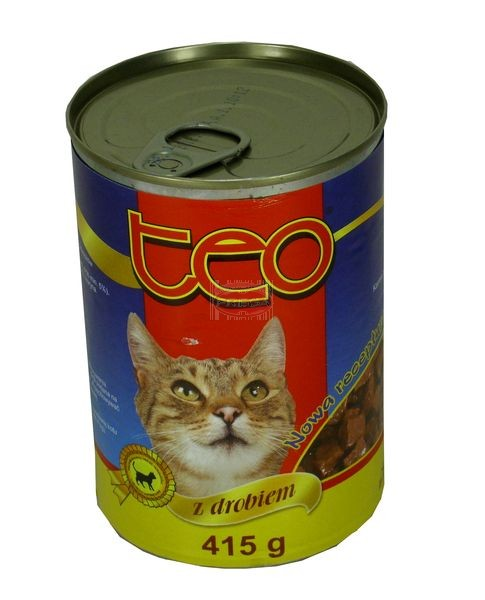 Teo karma dla kota drób puszka 415 g