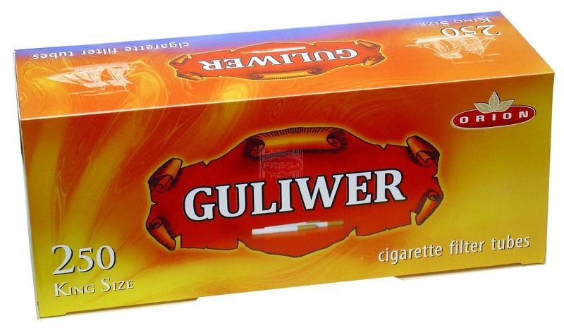 Guliwer gilzy papierosowe 250 szt.