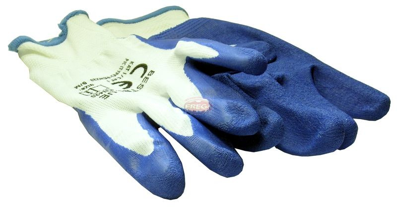 Rękawice robocze niebieskie damskie