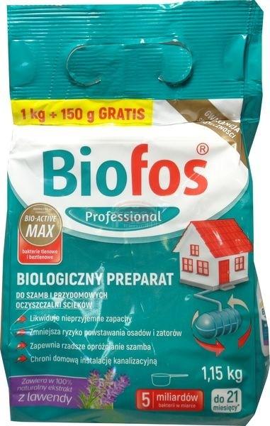 Biofos biologiczny preparat do szamb i przydomowych oczyszczalni ścieków 1 kg