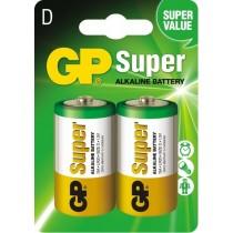 GP baterie alkaliczne Super LR20 D 1.5 V 2 szt