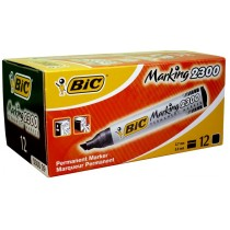 Marker BIC permanętny ścięty czarny