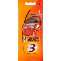 Bic 3 Sensitive Jednoczęściowe maszynki do golenia 4 sztuki