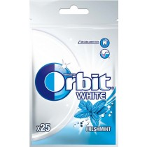 Orbit White Fresh Mint Guma do żucia bez cukru 35 g (25 drażetek