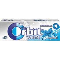 Orbit White Fresh Mint Guma do żucia bez cukru 14 g (10 drażetek)