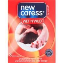 New Caress Wet N'Wild Prezerwatywy 3 sztuki