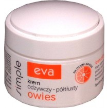 Krem odżywczy półtłusty Eva Simple owies 50 ml