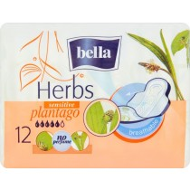 Bella Herbs Plantago Podpaski higieniczne 12 sztuk