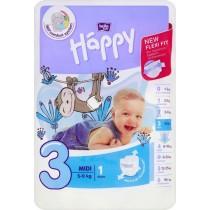Bella Baby Happy Pieluszka jednorazowa 3 midi 5-9 kg