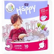 Bella Baby Happy Pieluszki jednorazowe 5 junior 12-25 kg 10 sztuk