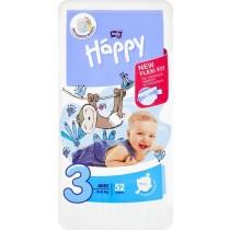 Bella Baby Happy Pieluszki jednorazowe 3 midi 5-9 kg 52 sztuki