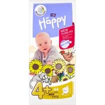 Bella Baby Happy Pieluszki jednorazowe 4+ maxi plus 9-20 kg 44 sztuki