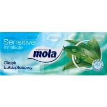 Mola Sensitive Chusteczki higieniczne 3 warstwowe Inhalacje Olejek eukaliptusowy 10 x 10 sztuk