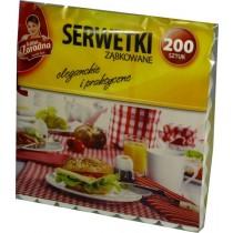 Anna Zaradna serwetki ząbkowane 15 x 15 cm białe 200 szt.