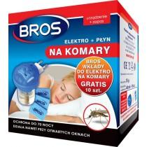 Bros elektrofumigator płyn na komary 40 ml + 10 szt zapas