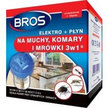 Bros elektrofumigator płyn na muchy, komary i mrówki 40 ml + zapas