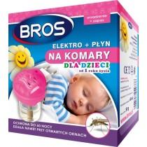 Bros elektrofymigator + płyn dla dzieci od 1 roku życia