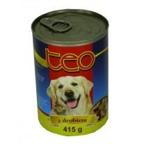 Teo karma dla psa bogactwo mięsa z drobiem 415 g