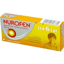 Nurofen Junior tabletki powlekane 200mg 6 tabletek.