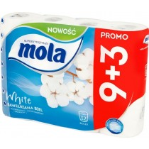 Mola White Bawełniana Biel Papier toaletowy 12 rolek