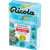Ricola Szwajcarskie cukierki ziołowe alpejska świeżość 27,5 g