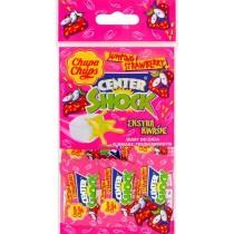 Chupa Chups Center Shock Gumy do żucia o smaku truskawkowym 36 g (9 sztuk)
