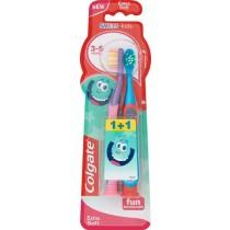 Colgate Smiles Kids Szczoteczka do zębów dla dzieci 3-5 lat bardzo miękka 2 sztuki