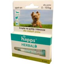 Happs Spot-On krople przeciw pchłom i kleszczom dla małych psów 5-10 kg