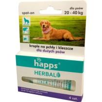 Happs Spot-On krople przeciw pchłom i kleszczom dla dużych psów 20-40 kg