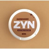 Zyn Espressino woreczki z nikotyną (snus bez tytoniu) mini dry intensywność 2 20 szt