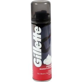 Gillette pianka do golenia do skóry normalnej (czerwona) 200 ml