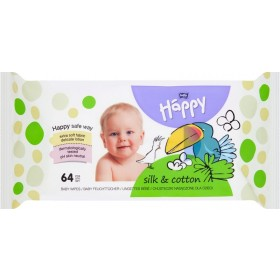 Bella Baby Happy Silk & Cotton Chusteczki nasączone dla dzieci 64 sztuki