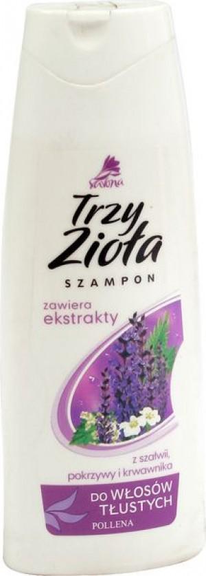 Familijny szampon do włosów tłustych trzy zioła szałwia pokrzywa krwawnik 250 ml