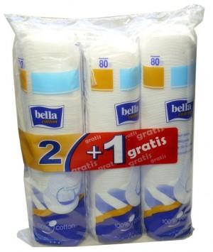 Bella Cotton płatki kosmetyczne 2x80 szt. + 1x80 szt. gratis