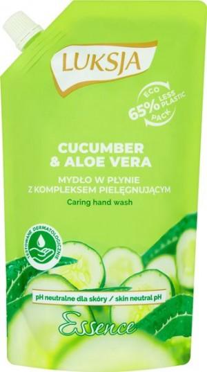 Luksja Essence Cucumber & Aloe Vera Mydło w płynie opakowanie uzupełniające 400 ml