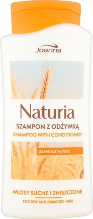 Joanna Naturia szampon do włosów z odżywką Pszenica 500 ml